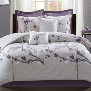 Madison Park Isabella Purple 8-Pc Comforter Set